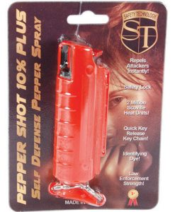 Pepper Shot 1/2 oz w/Red Injection Molded Holster & Quick Key Release Key Chain