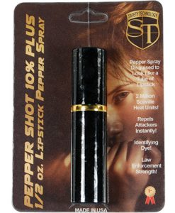 Pepper Shot Lipstick Pepper Spray Black